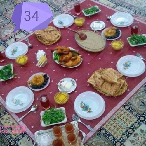 ایده های شیک و لاکچری تزیین افطار