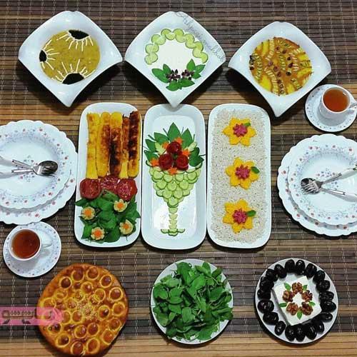 مدل دیزاین لاکچری میز افطاری