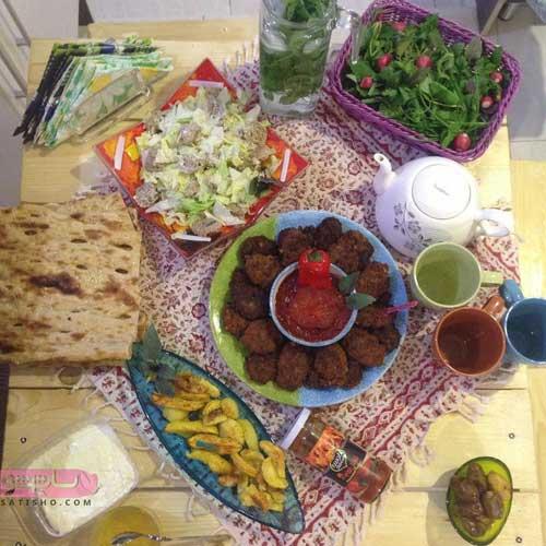 تزیین سالاد فصل برای سفره افطار رمضان 98