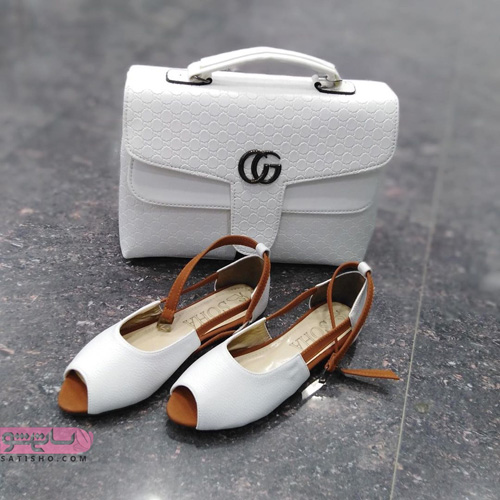 مدل کیف و کفش ست 98 سفید رنگ کیف دستی زیبا