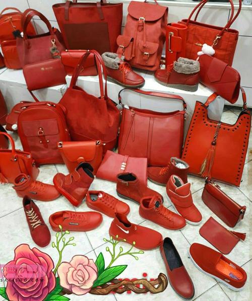 عکس کیف و کفش ست اسپرت دخترانه در چندین طرح رنگ قرمز