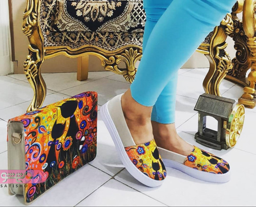 ست کیف و کفش شیک و جدید زنانه