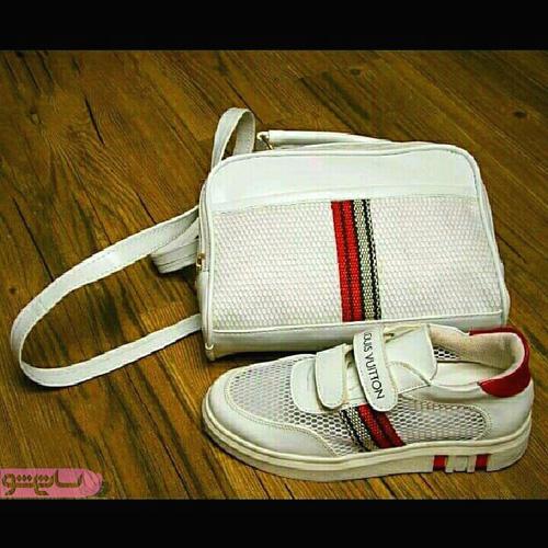 ست کیف و کفش اسپرت چهارخونه