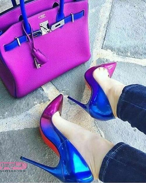 ست کفش و کیف دستی صورتی