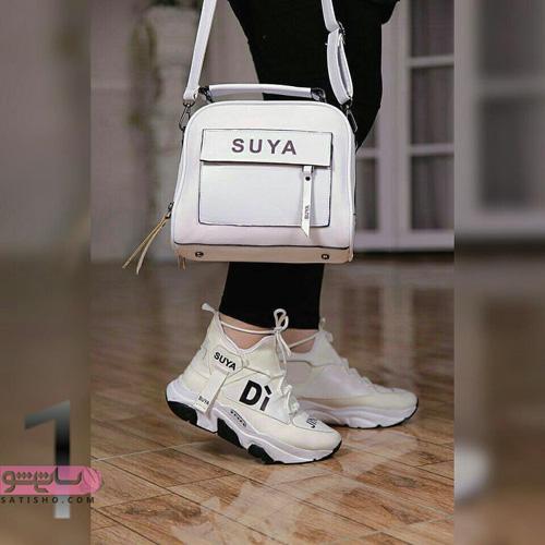 عکس کیف و کفش ست سفید اسرت لژدار