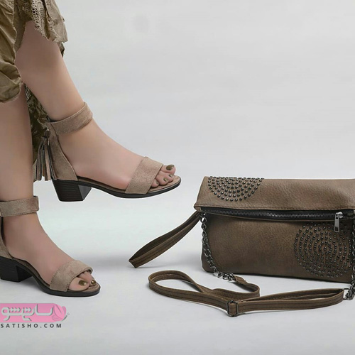 ست کیف و کفش دخترانه چرم