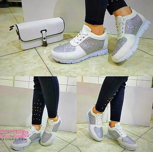 ست کیف و کفش مدرسه سفید