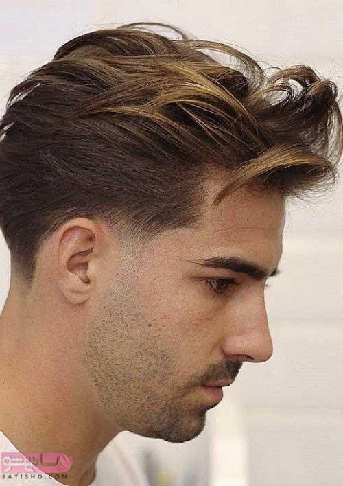انواع مدل مو مردانه برای صورت های کشیده 98 و 2019
