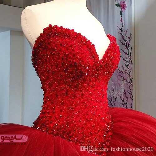 مدل لباس شب آستین پفی