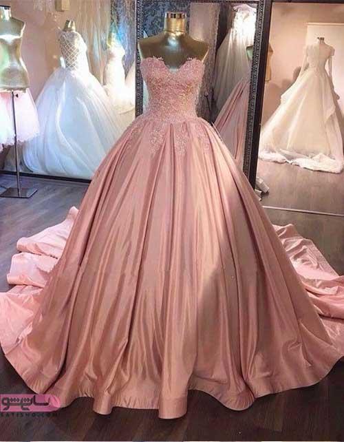 جدیدترین مدل لباس مجلسی بلند شب ساتن رنگ سال
