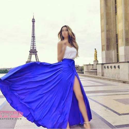 لباس مجلسی بلند زیبا چاک دار