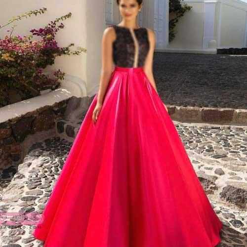 لباس زیبای مجلسی و دامن قرمز