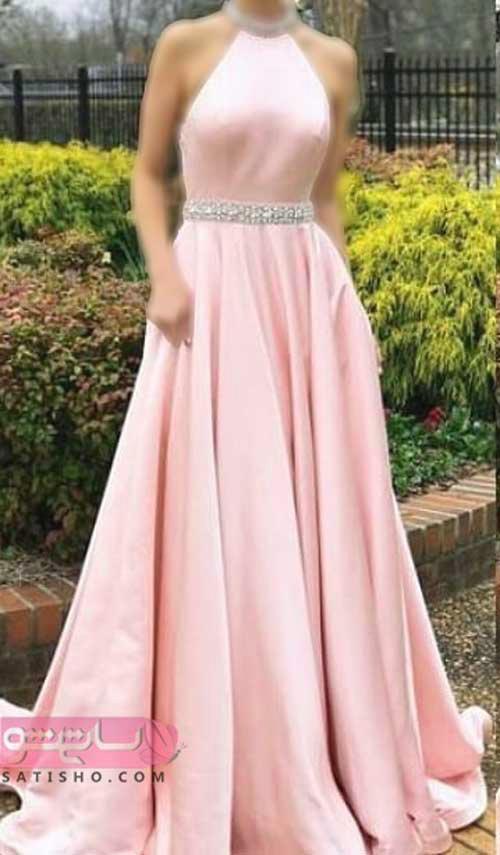 لباس مجلسی بلند زیبا جدید مدل رگالی رنگ سال