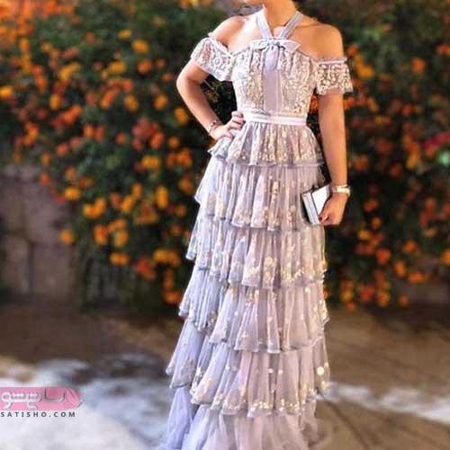 لباس مجلسی دخترانه نوجوان با استایل بلند