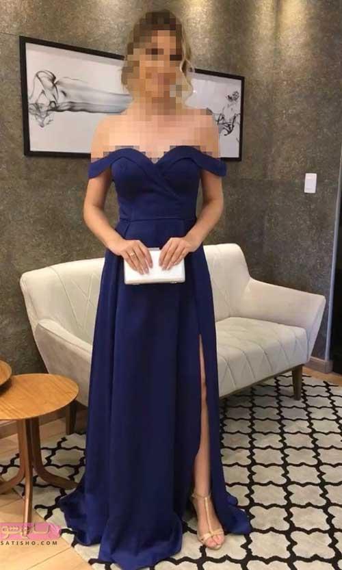مدلهای لاکچری و جدید لباس مجلسی یقه دلبری