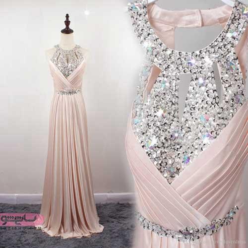 مدل لباس شب آستین حلقه ای ترکی