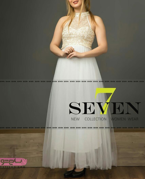لباس مجلسی بلند زیبا زنانه رنگ روشن