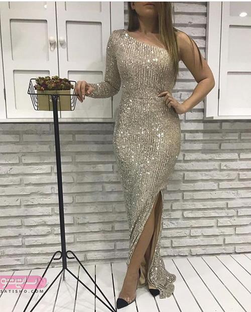 لباس مجلسی بلند زیباترین مدل رومی