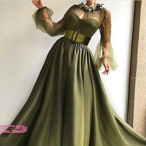 شیکترین مدل لباس مجلسی بلند دخترانه