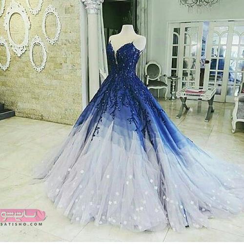 مدل لباس مجلسی دخترانه شیک بلند