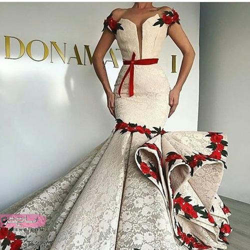 لباس مجلسی بلند کلوش زیبا