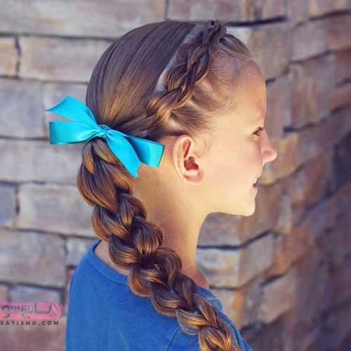 عکس مدل بافت مو دخترانه ساده