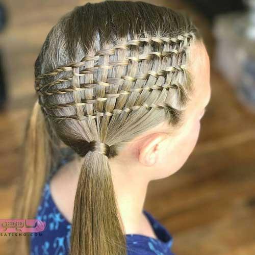 عکس مدل بافت مو باز دخترانه