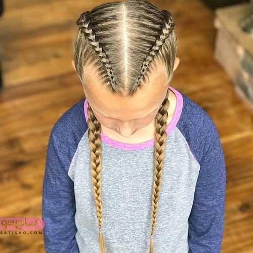 عکس مدل بافت مو دخترانه جلوی سر