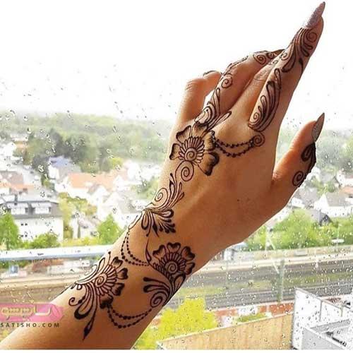 عکس حنای روی دست عروس