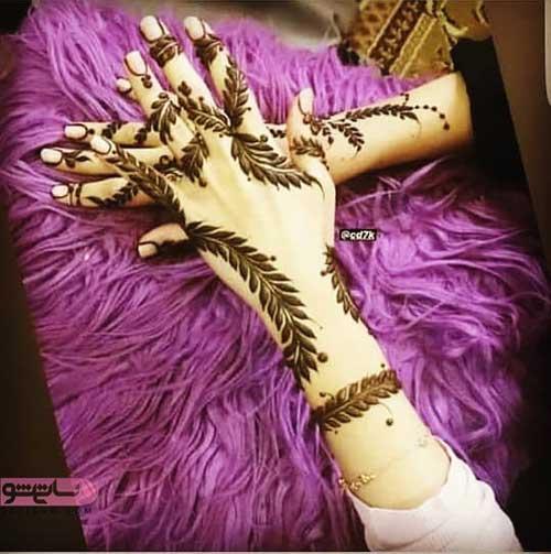عکس حنا روی دست عروس