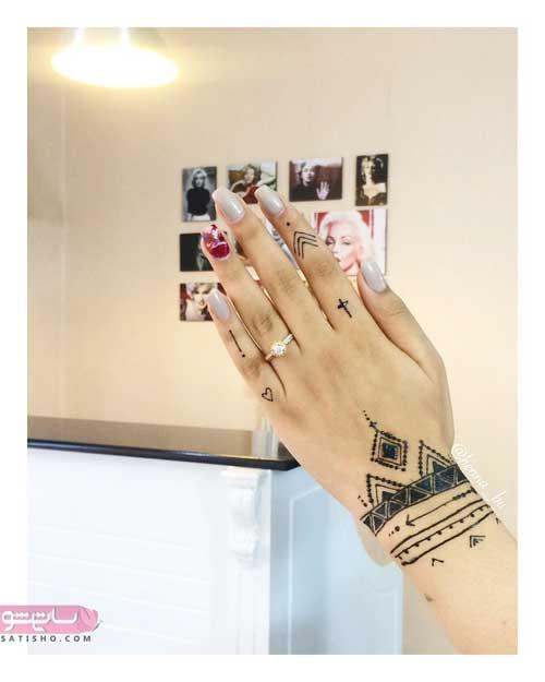 طرح حنا روی دست عروس