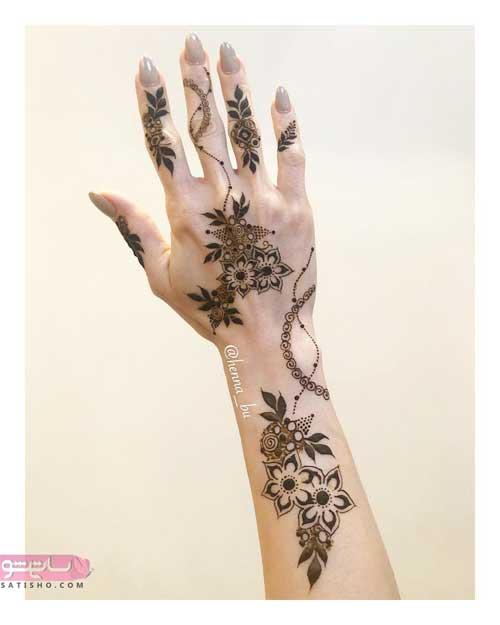 طراحی حنا روی انگشت دست