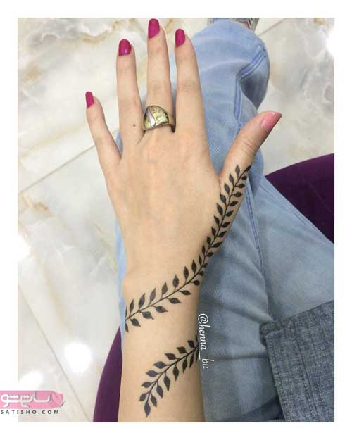 عکس طرح حنا روی انگشت دست