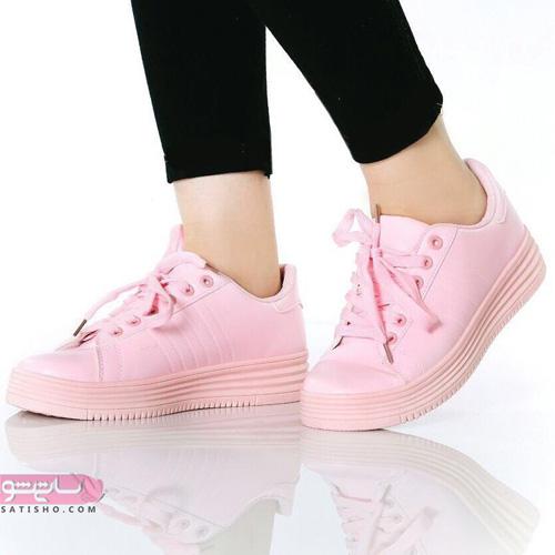 کفش اسپرت دخترانه شیک 2019 صورتی رنگ