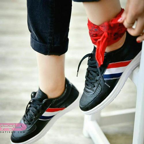 کفش اسپرت دخترانه شیک 2019 طرح دار