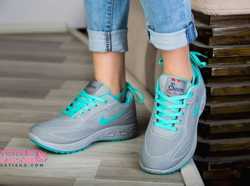 عکس کفش اسپرت نایک دخترانه جدید با بند های رنگی