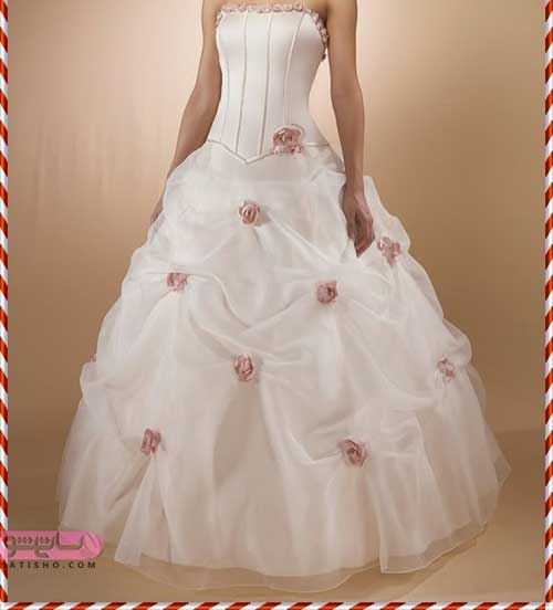 مدل لباس عروس جدید 2019 شیک شکوفه دار