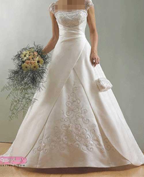 جدیدترین و شیک ترین مدل لباس عروس 98 با دامن طبقه ای