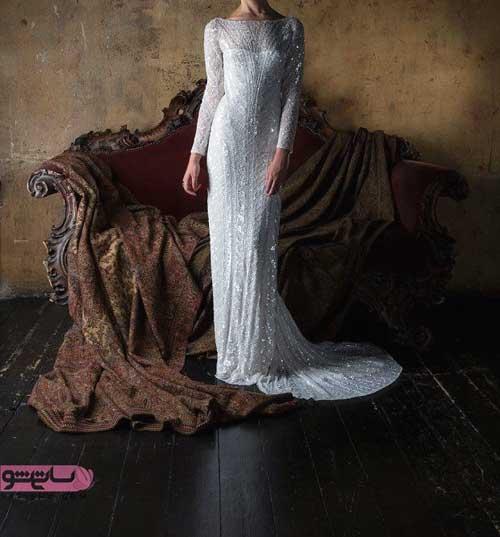 جدیدترین و شیک ترین لباس عروس 2019 استین دار پوشیده