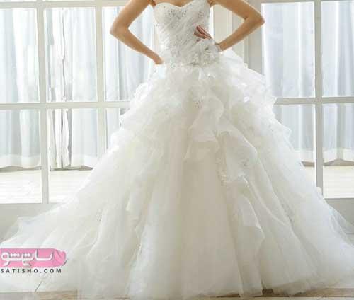 جدیدترین و شیک ترین لباس عروس طرح دکلته