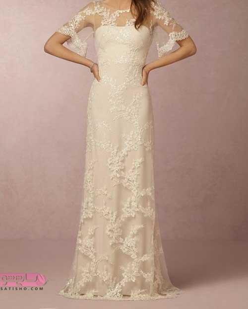 مدل لباس عروس جدید آستین دار نامزدی