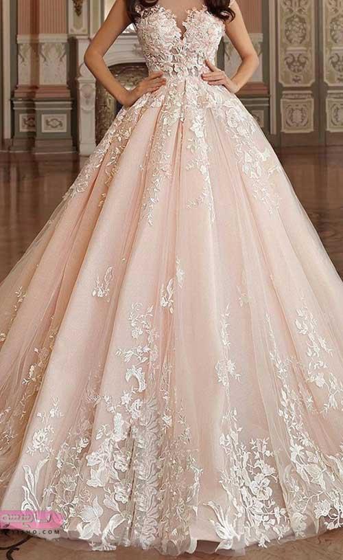 جدیدترین لباس عروس رنگ سال شیک