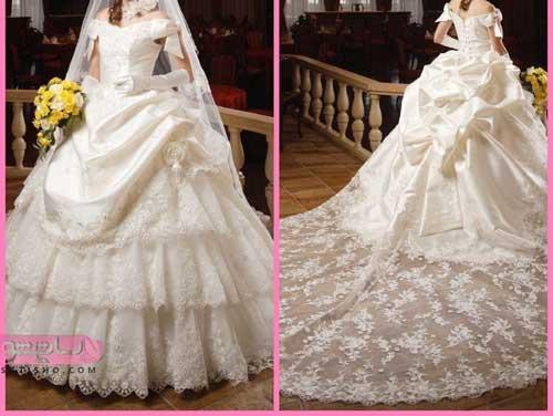 شیک ترین جدیدترین لباس عروس در 2 طرح پشت بلند