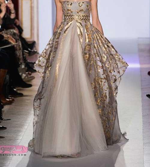 مدل لباس عروس ساده و شیک در رنگ جدید