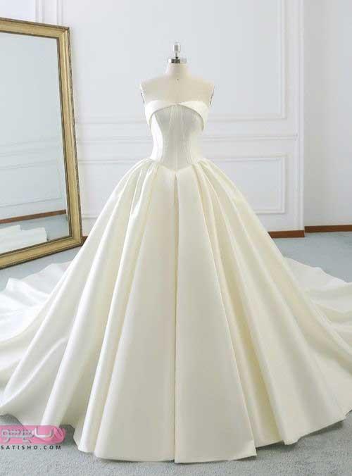 مدل لباس عروس جدید در تهران ساتن سفید