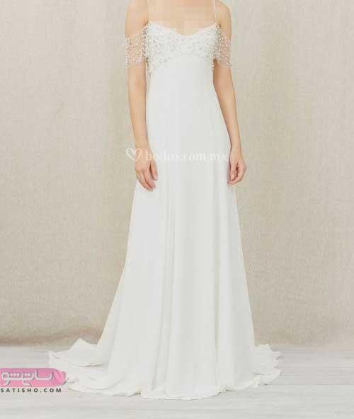 انواع لباس عروس جدید سال 2019 سفید
