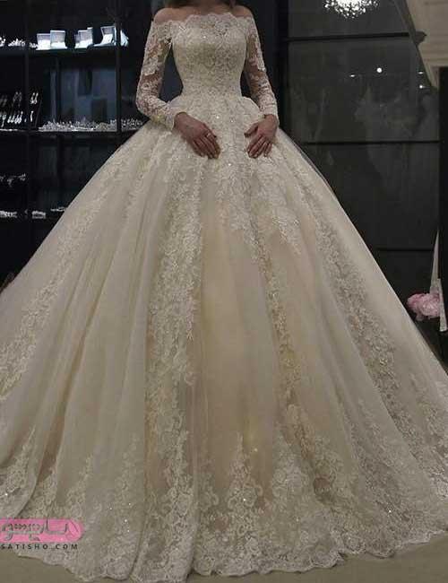 انواع لباس عروس جدید و شیک پفی خاص