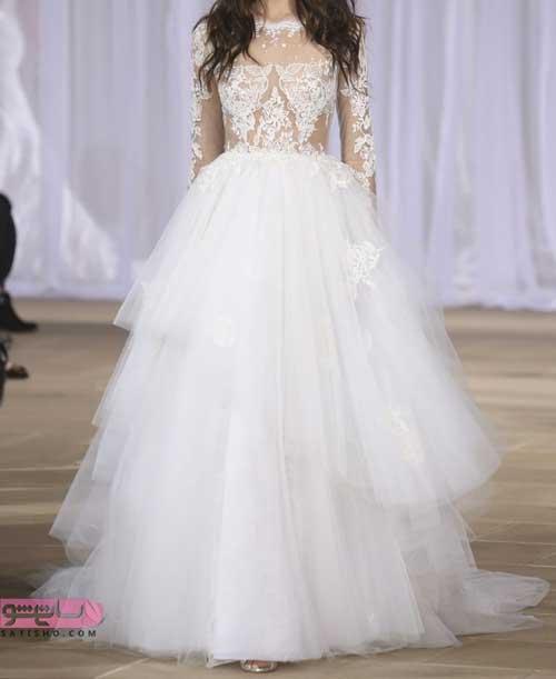 مدل لباس عروس 2019 شیک گیپور جدید