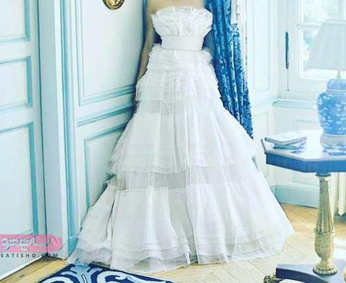 لباس عروس یقه دلبری