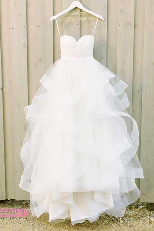 جدید ترین لباس عروس ساده و شیک توری